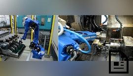 Automatisierung einer Gegenspindel-Drehmaschine mit Industrieroboter
