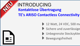 Kontaktlose Übertragung - TE's ARISO Contactless Connectivity Plattform