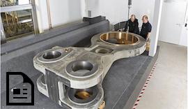 Kolossal! Meterlange und tonnenschwere Bauteile erobern unseren Messraum