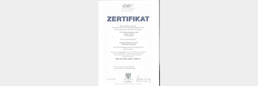 Umweltaudit nach ISO 14001-2009 – CTX erfolgreich rezertifiziert