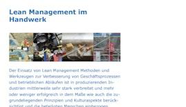 #Lean Management im Handwerk