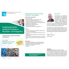 SEMINAR Produktsicherheit für technische Produkte im Maschinen- und Anlagenbau