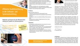 SEMINAR Effiziente Qualitätssicherung in der Software- und Systementwicklung