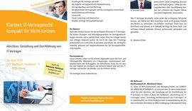 SEMINAR Klartext: IT-Vertragsrecht kompakt für Nicht-Juristen