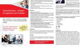 SEMINAR Verkaufstraining - kompakt für Ingenieure und Techniker
