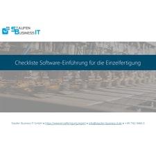 Checkliste Software-Einführung für die Auftragsfertigung