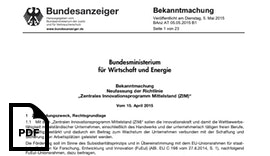 Neue ZIM Richtlinie gültig ab Mai 2015