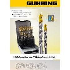 Bohrwerkzeuge - TiN-kopfbeschichtete HSS-Spiralbohrer