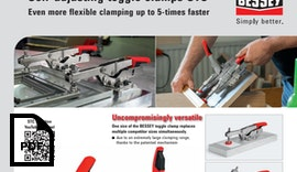 Self-adjusting toggle clamps STC - Even more flexible clamping up to 5-times faster