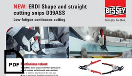 Shape and straight cutting snips D39ASS - Low-fatigue continuous cutting