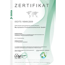 DEKRA Zertifikat für das Qualitätsmanagementsystem
