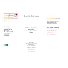 Besucherinformation, Zutrittsbedinungen & Betriebsanweisung