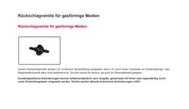 Rückschlagventile für gasförmige Medien