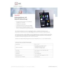 Datenblatt beleuchtete Folientastaturen mit SideLED Technologie