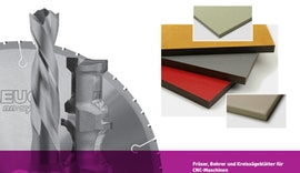 Werkzeuge zur Bearbeitung von Vollkernmaterialien und Mineralwerkstoffen