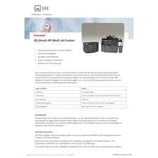 Datenblatt 3D-Druck Multi Jet Fusion Verfahren
