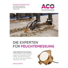 ACO Feuchtemessungen Produktflyer - DE