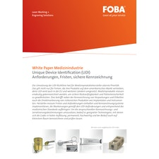 White Paper Medizinindustrie Unique Device Identification (UDI) (DE)