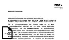 Kegelradverzahnen mit den Dreh-Fräszentren INDEX R200/R300