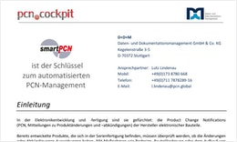 pcn.global® - Digitales Obsoleszenzmanagement mit dem pcn.cockpit® auf Basis smartPCN
