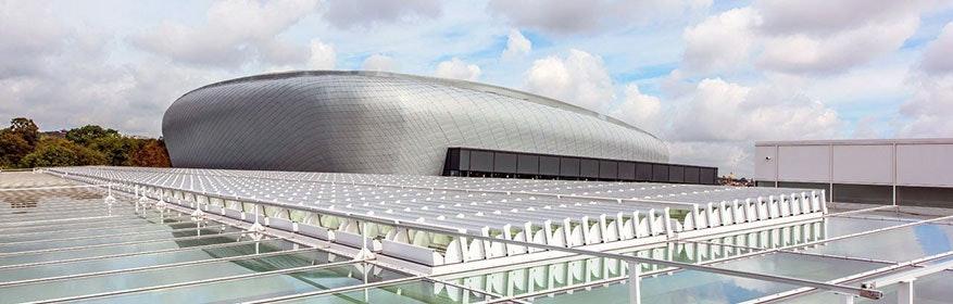 Strenge EU-Auflage werden mit dem RWA-System im Einkaufszentrum Docks Brüssel erfüllt