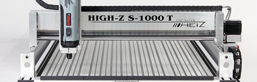 CNC Fräse der Serie High-Z/T mit Verfahrwegen von 1000x600 mm.