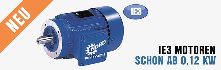 IE3 Motor, neu schon ab 0,12 kW