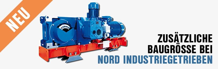 Industriegetriebe in zusätzlicher Baugröße