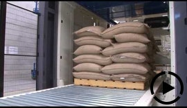 ACO Moisture Measurement in Copal C2 Bags Handling Line - Coffee Beans