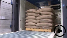 ACO Moisture Measurement in Copal C2 Bags Handling Line - Coffee Beans