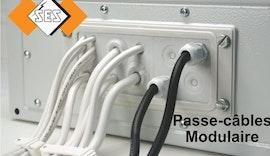 Kabeldurchführungsmodul  FL zum einfachen Durchführen eines Kabels in einer Trennwand