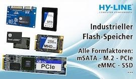 Flash-Speicher für die Industrie: alle Formfaktoren, sicher, zuverlässig (mSATA, M.2, eMMC, SSD)