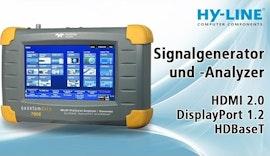 Signalgenerator und -Analyzer QD780e: HDMI 2.0, DisplayPort 1.2, HDBaseT