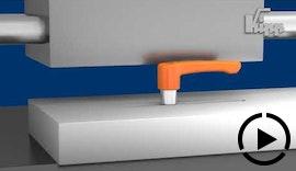 KIPP Klemmhebel flach für enge Platzverhältnisse