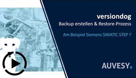 Backup erstellen & Restore-Prozess mit versiondog