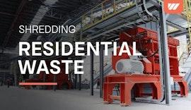 Müll Zerkleinerung für die Ersatzbrennstoff Produktion