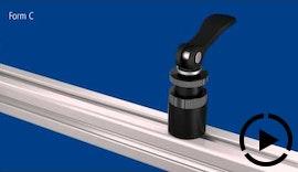 KIPP Exzenter Spannmodule - Schnellspannlösung für Alu-Profilsysteme und flache Werkstücke