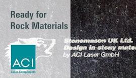 Lasermarkierung von Gesteinsmaterial