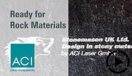 #Lasermarkierung von Gesteinsmaterial