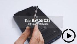 SIM-Karte installieren - für Tab-Ex® 02 DZ1