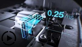 Touchscreen mit aktivem, haptischem Feedback