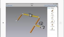 IRONCAD COMPOSE Mobile for iOS - Piping Catalog - kostenlose 3D-Power für das iPad