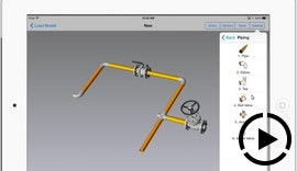 IRONCAD COMPOSE Mobile for iOS - Piping Catalog - kostenlose 3D-Power für das iPad