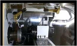 SUMO Megaplex Drehmaschinen-Automation mit Roboter Motoman HP20D von EGS Automatisierungstechnik